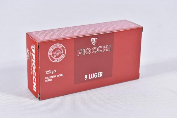 Munition bleihaltig Fiocchi 123grs FMJ 50STK 9mmLuger