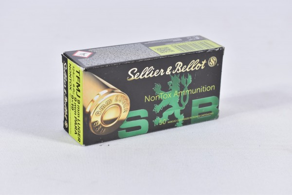 Munition bleihaltig Sellier & Bellot 124grs TFMJ NON-TOX 50STK 9mmLuger