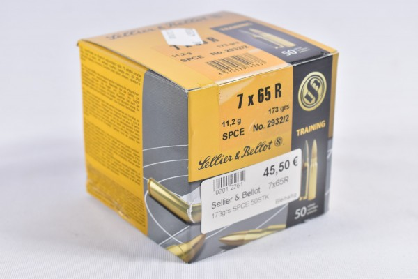 Munition bleihaltig Sellier & Bellot 173grs SPCE 50STK 7x65R