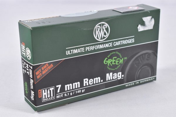 Munition bleifrei RWS 140grs HIT 20STK 7 mm Rem. Mag.