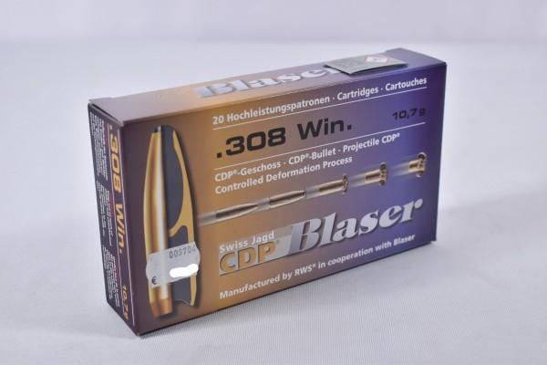 Munition bleihaltig Blaser 165grs CDP 20STK .308Win