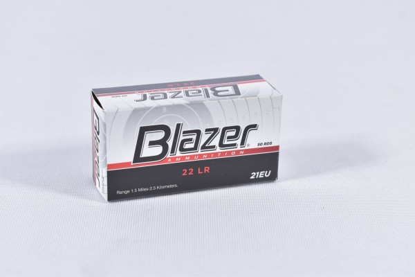 Munition bleihaltig CCI 40grs Blazer 50STK .22lr