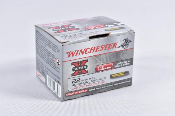 Munition bleihaltig Winchester 40grs X-Super JHP 150STK .22WinMag