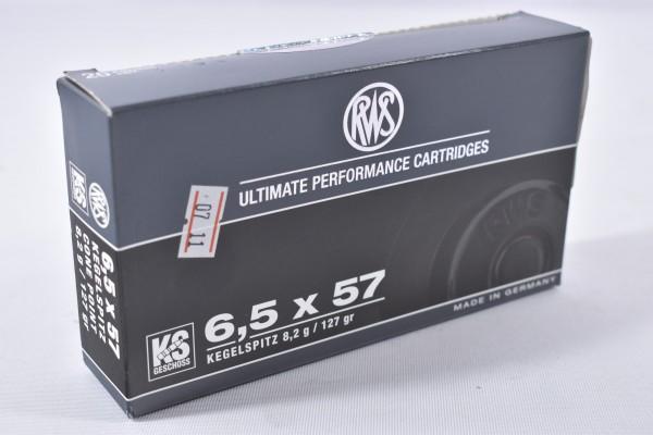 Munition bleihaltig RWS 127grs KS 20ST. 6,5x57