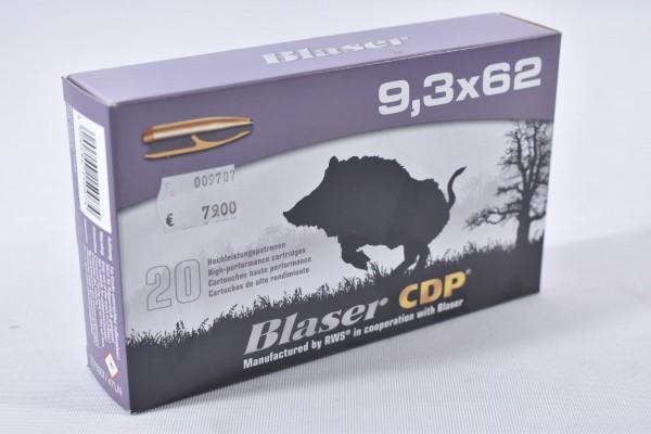Munition bleihaltig Blaser 286grs CDP 20STK 9,3x62