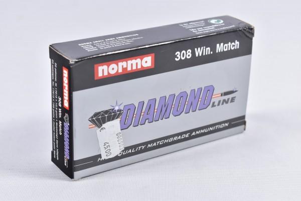 Munition bleihaltig Norma 168grs Diamond Line 20STK .308Win.
