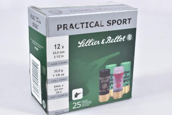 Verbleit Flinte Sellier & Bellot 32g Practical Sport 25STK 12/63,5
