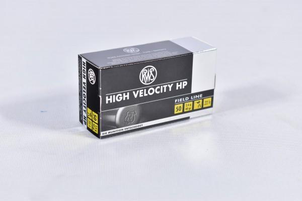 Munition bleihaltig RWS 40grs HIGH VELOCITY HP 50STK .22lr