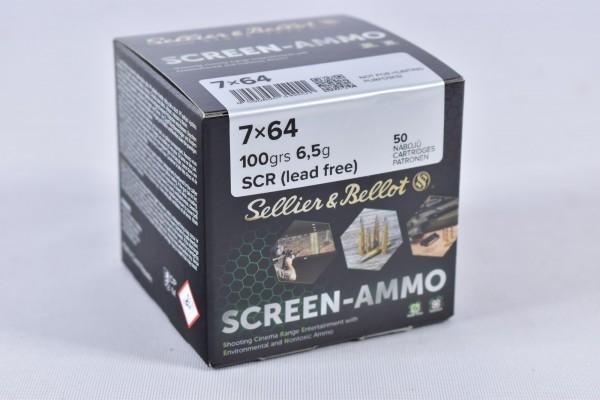 Munition bleifrei Sellier & Bellot 100grs Screen-Ammo 50STK 7x64