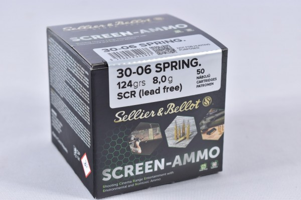 Munition bleifrei Sellier & Bellot 124grs Screen-Ammo 50STK .30-06Spring.