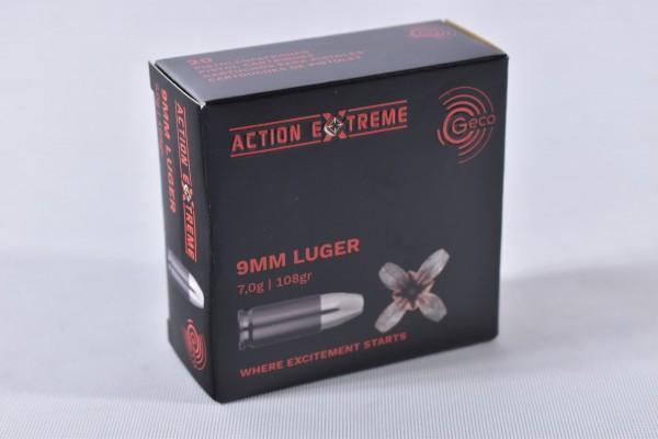 Munition bleihaltig Geco 108grs Action Extreme 20STK 9mm Luger