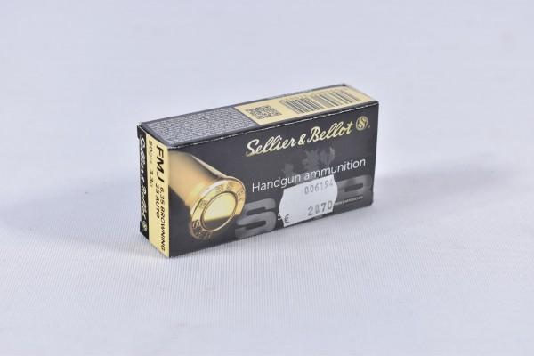 Munition bleihaltig Sellier & Bellot 50grs FMJ 50STK 6,35mmBrow.