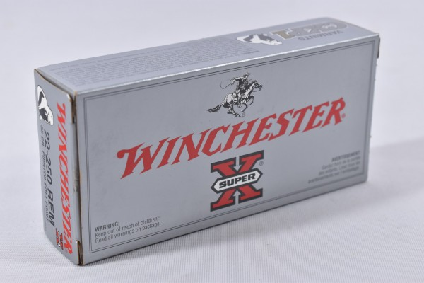 Munition bleihaltig Winchester 55grs Pointed Soft Point 20STk .22-250Rem.