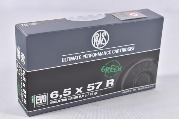 Munition bleifrei RWS 93grs Evo Green 20STK 6,5x57R