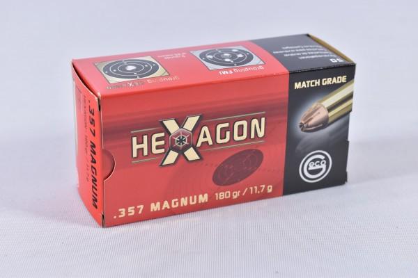 Munition bleihaltig Geco 180grs Hexagon 50STK .357Mag