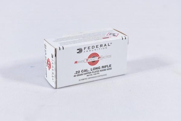 Munition bleihaltig Federal 40grs Copper Plated RN 50STK .22lr