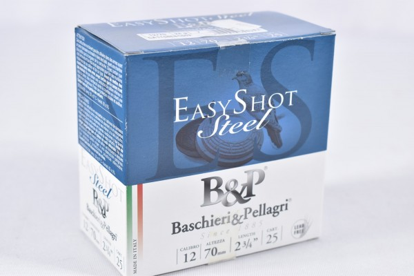 Stahl Flinte Baschieri & Pellagri 24g EasyShot Steel 2,5mm 25STK 12/70