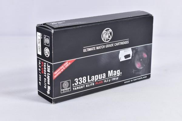 Munition bleifrei RWS 250grs Target Elite Plus 20STK .338 Lapua Mag.