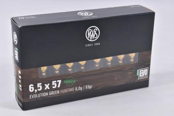 Munition bleifrei RWS 93grs EVO GREEN 20STK 6,5x57