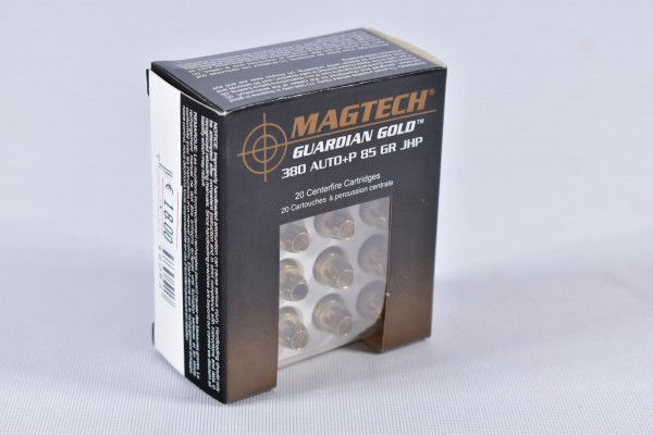 Munition bleihaltig Magtech 85grs Guardian Gold 20STK .380Auto