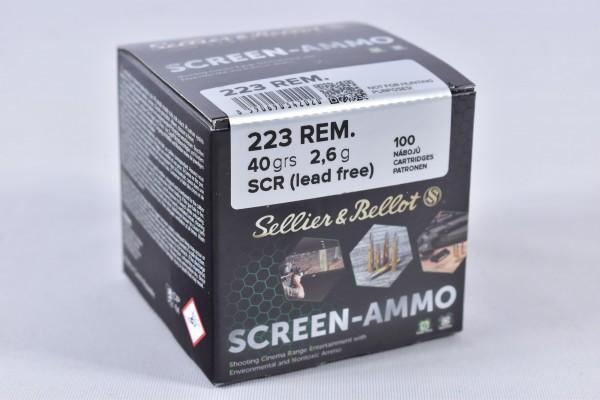 Munition bleifrei Sellier & Bellot 40grs Screen-Ammo 100STK .223Rem.