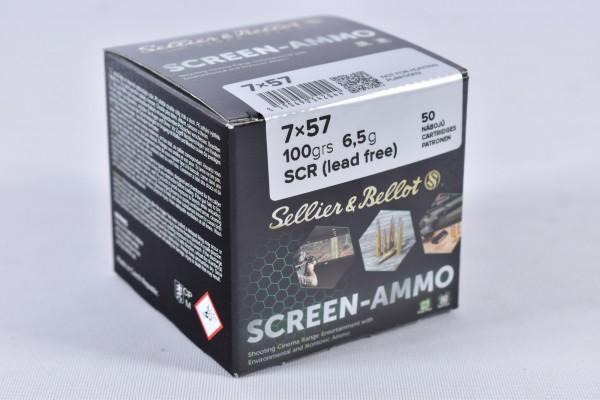 Munition bleifrei Sellier & Bellot 100grs Screen-Ammo 50STK 7x57