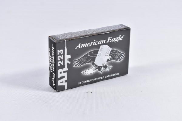 Munition bleihaltig American Eagle 55grs AR223 20STK .223Rem.