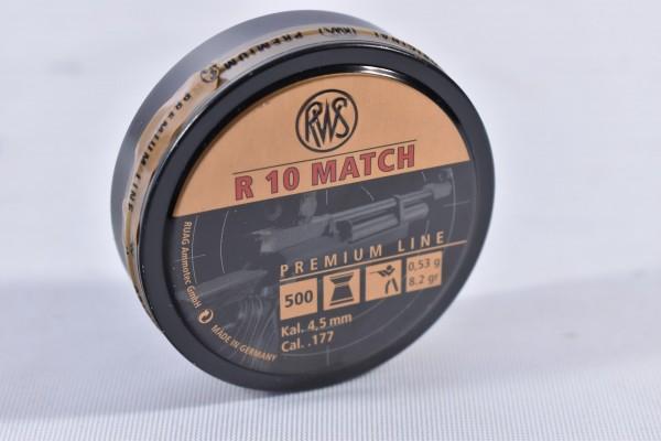 Diabolo RWS 0,53g R10 MATCH 4,49mm 500STK 4,5mm