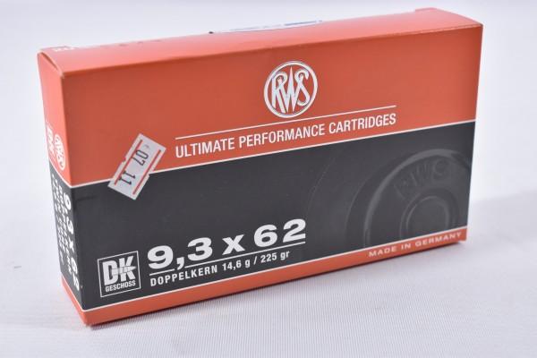 Munition bleihaltig RWS 225grs DK Geschoss 20STK 9,3x62
