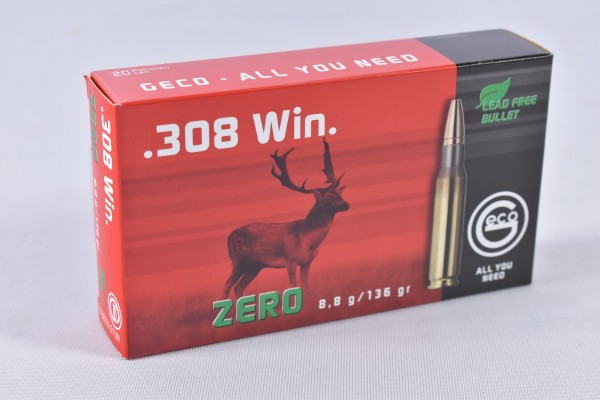 Munition bleifrei Geco 136grs Zero 20STK .308Win