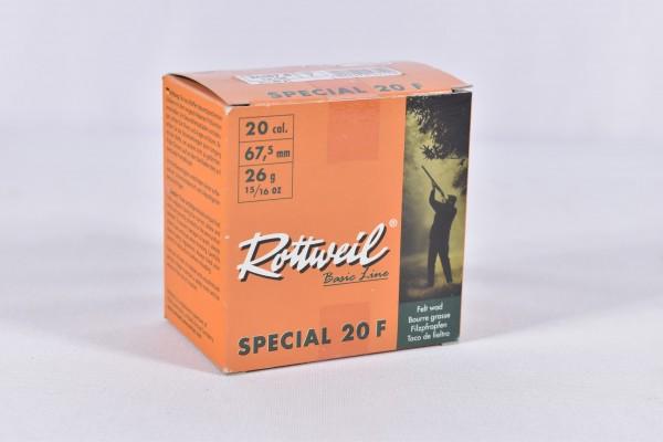 Verbleit Flinte Rottweil 26g Special 20F 2,5mm 25STK 20/67,5