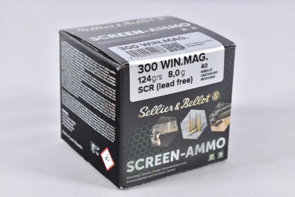 Munition bleifrei Sellier & Bellot 124grs Screen-Ammo 40STK 300Win.Mag.