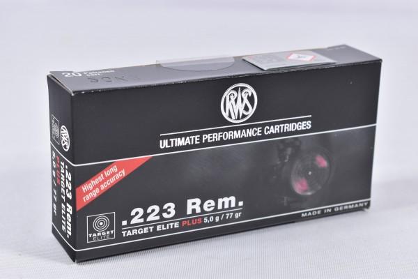 Munition bleihaltig RWS 77grs Target Elite PLUS 20STK .223Rem.