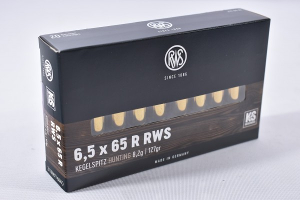 Munition bleihaltig RWS 127grs KS 20STK 6,5x65R