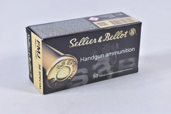 Munition bleihaltig Sellier & Bellot 158grs FMJ 50STK .38Special