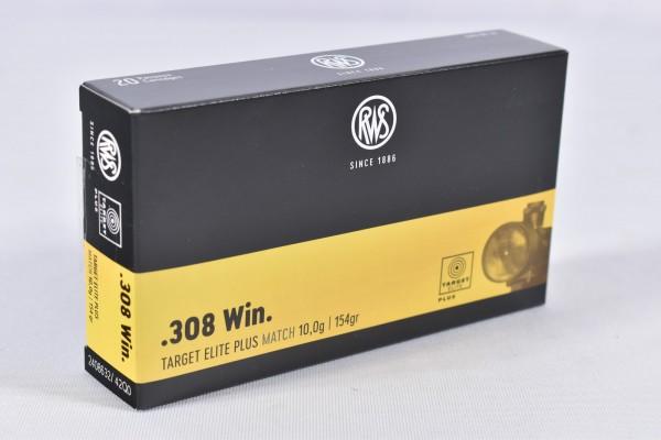 Munition bleihaltig RWS 154grs Target Elite Plus 20STK .308Win.