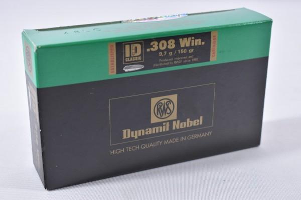 Munition bleihaltig RWS 150grs ID Classic 20STK .308Win.