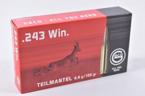 Munition bleihaltig Geco 105grs TM 20STK .243Win
