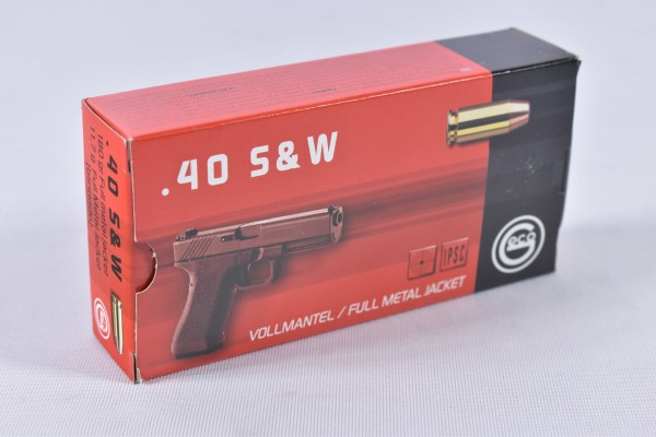 Munition bleihaltig Geco 180grs VM Flachkopf 50STK .40S&W