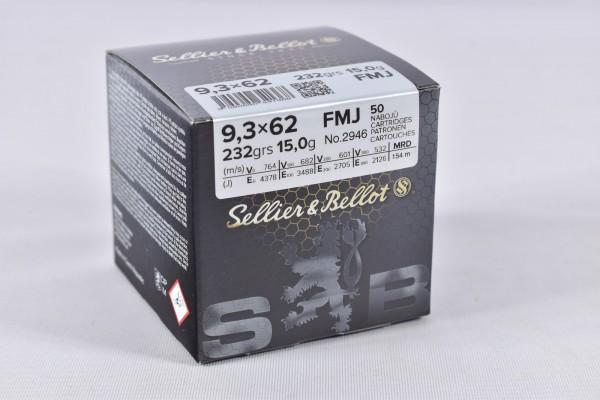 Munition bleihaltig Sellier & Bellot 232grs FMJ 50STK 9,3x62