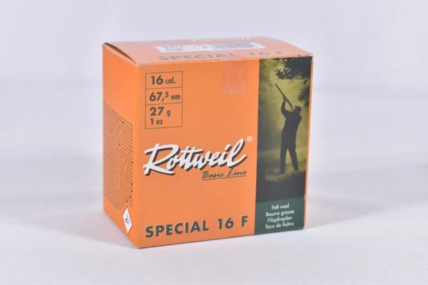 Rottweil - 27g Special 16F 3,0mm 25STK - 16/67,5